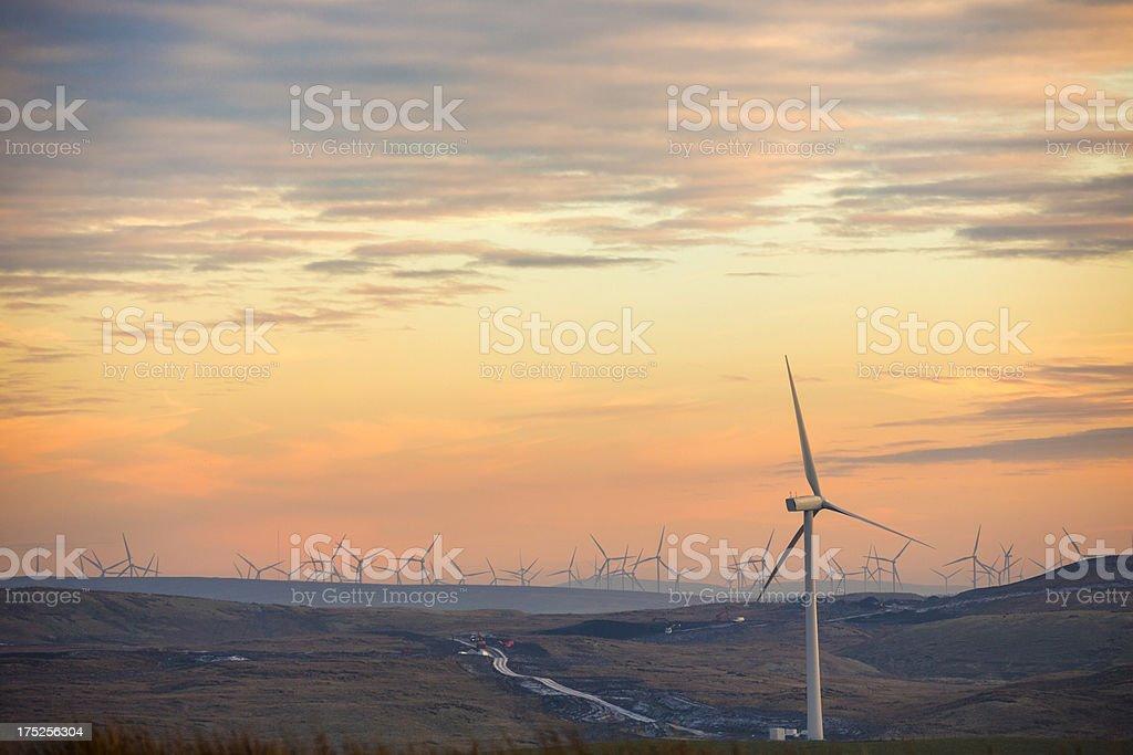Wind Farm Under Construction stock photo