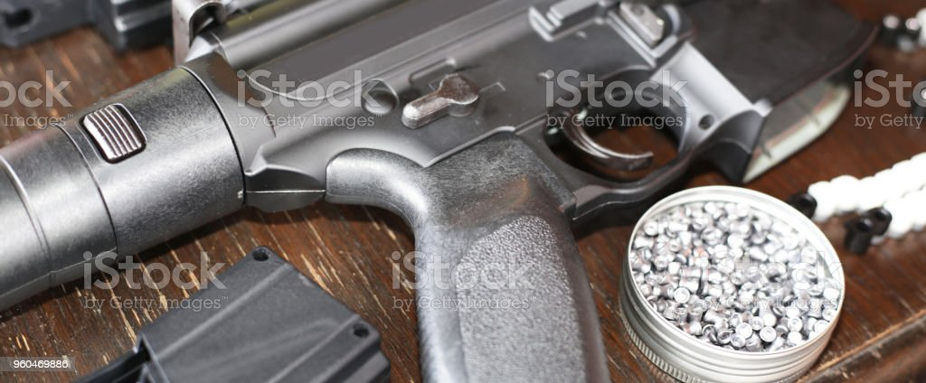 Wind gun and shotgun stock photo