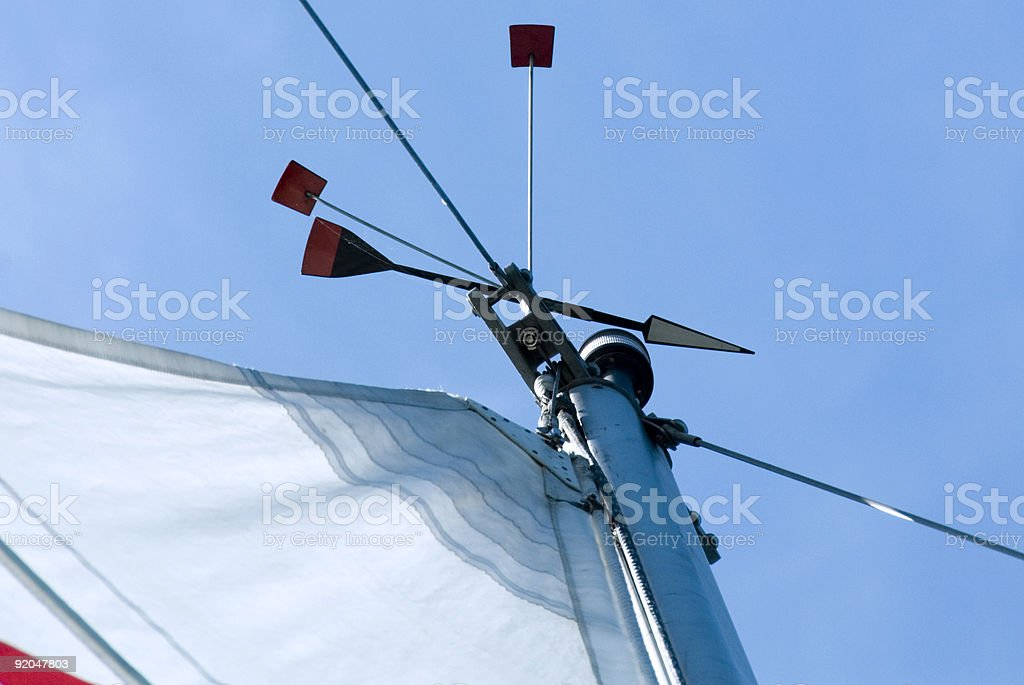 Wind Indicator on top of a mast royalty-free stock photo