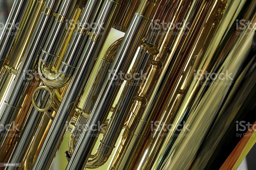 wind instrument detail stock photo