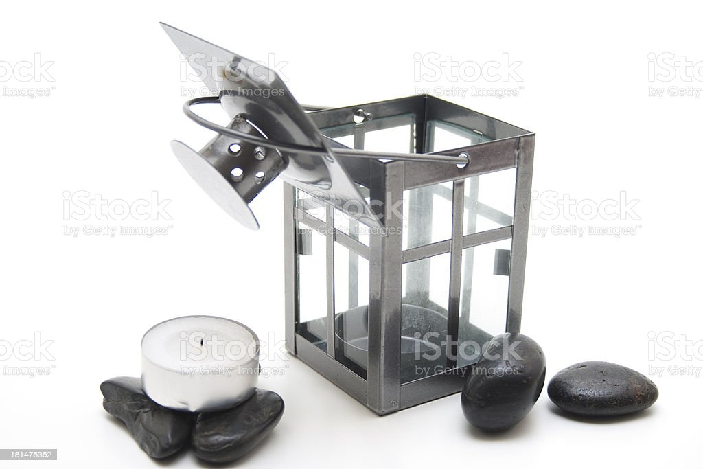 Wind light and tea bright with stones stock photo