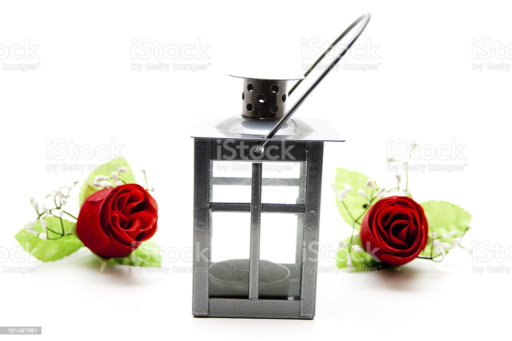 Wind light with red roses stock photo