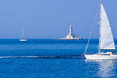 """wind lull around the lighthouse of porer, adriatic landmark, croatiaCHECK OTHER SIMILAR IMAGES IN MY PORTFOLIO...."""