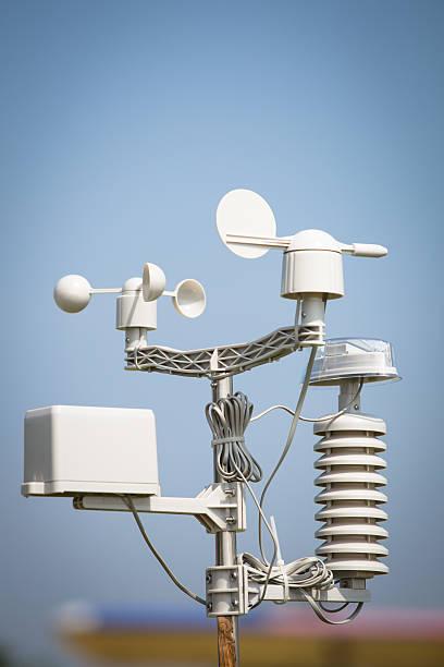 wind meter - rain gauge stock photos and pictures