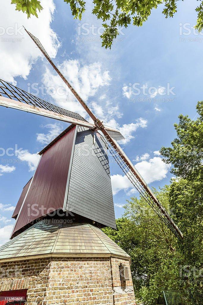 Wind mill closeup stock photo