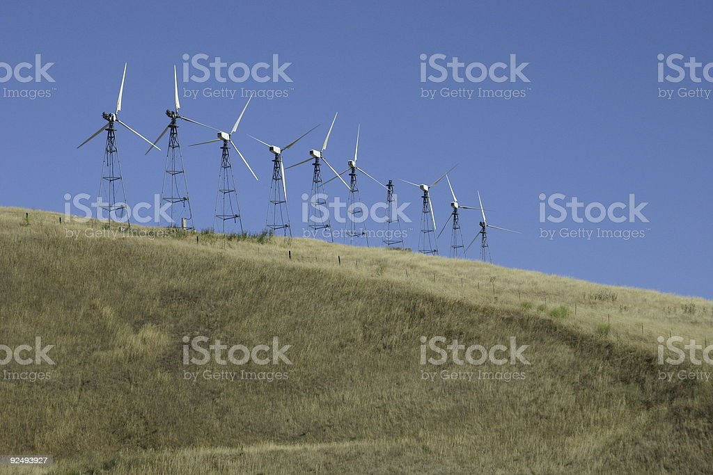 Wind Mills in Northern California Take 2 royalty-free stock photo