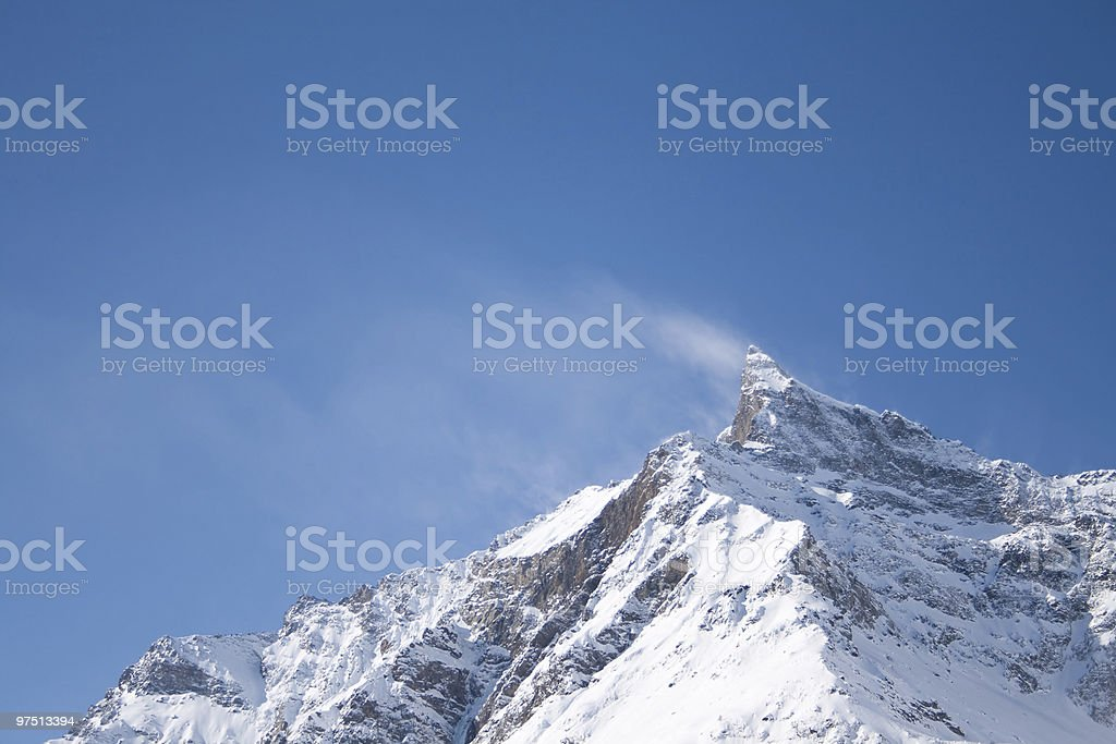 wind on the tops royalty-free stock photo
