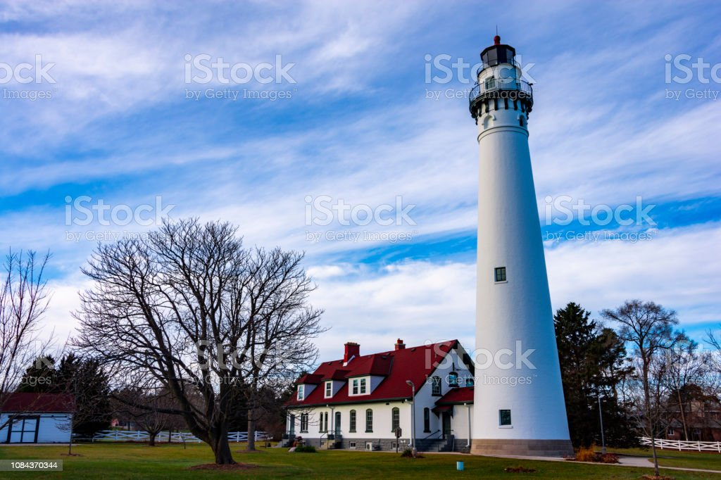 Wind Point Lighthouse stock photo