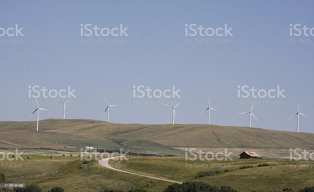 Wind Power Alberta stock photo