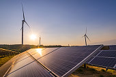 istock Wind power and solar power stations 1169892501
