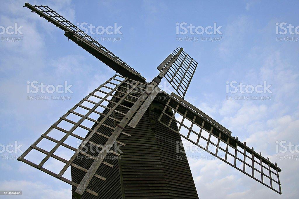 wind power brill windmill uk royalty-free stock photo