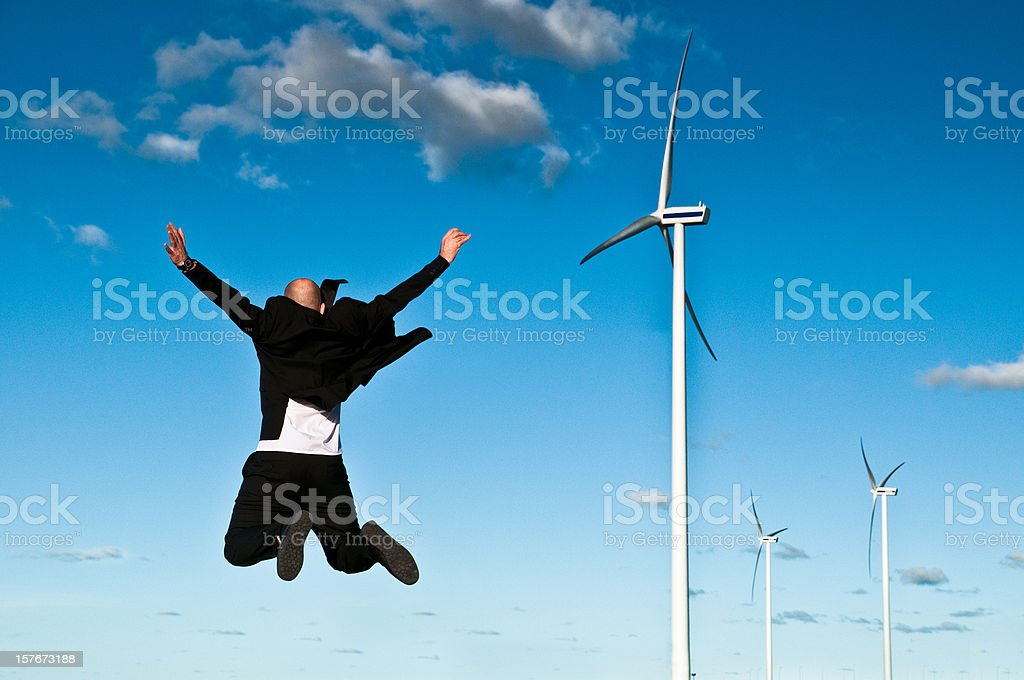 Wind Power Business royalty-free stock photo