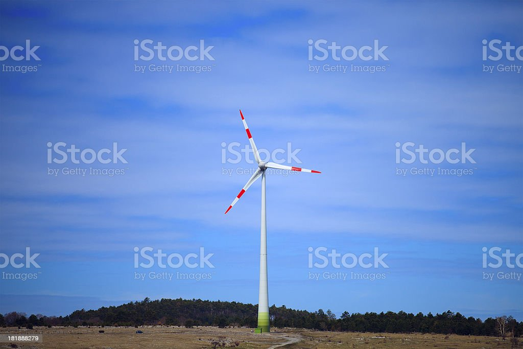 WInd power, converting energy royalty-free stock photo
