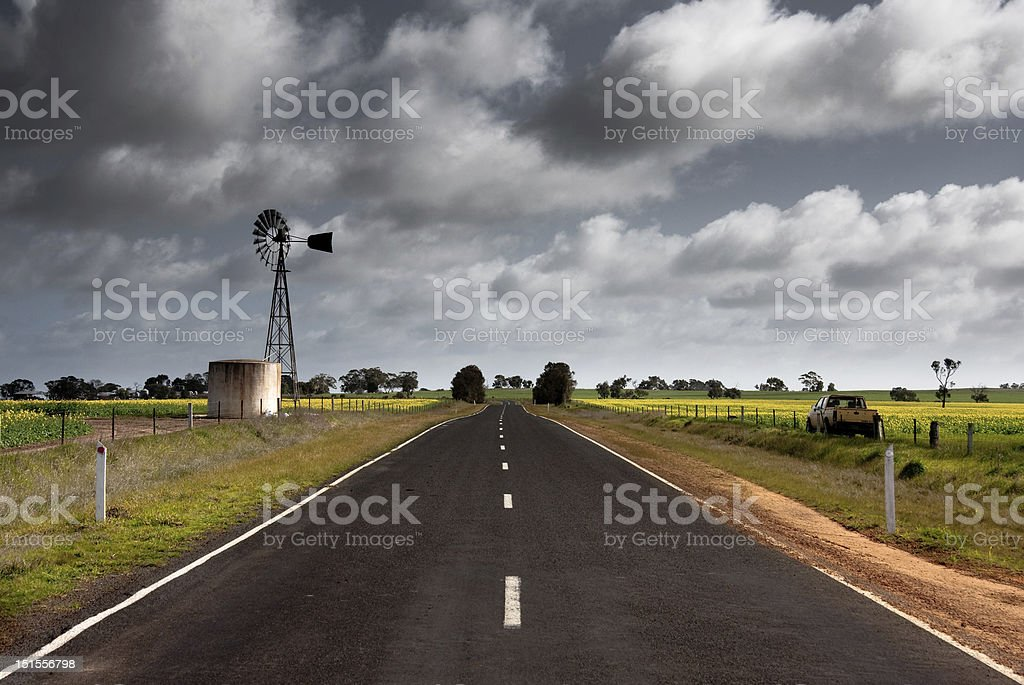 Wind power on a stormy day stock photo