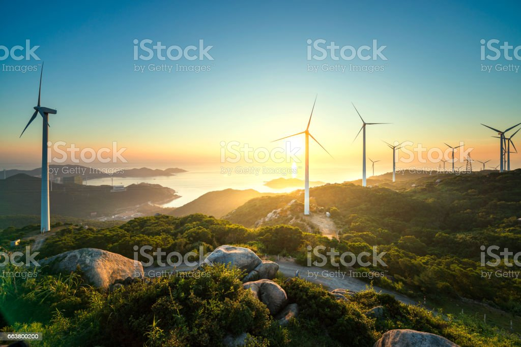 Wind power - foto de acervo