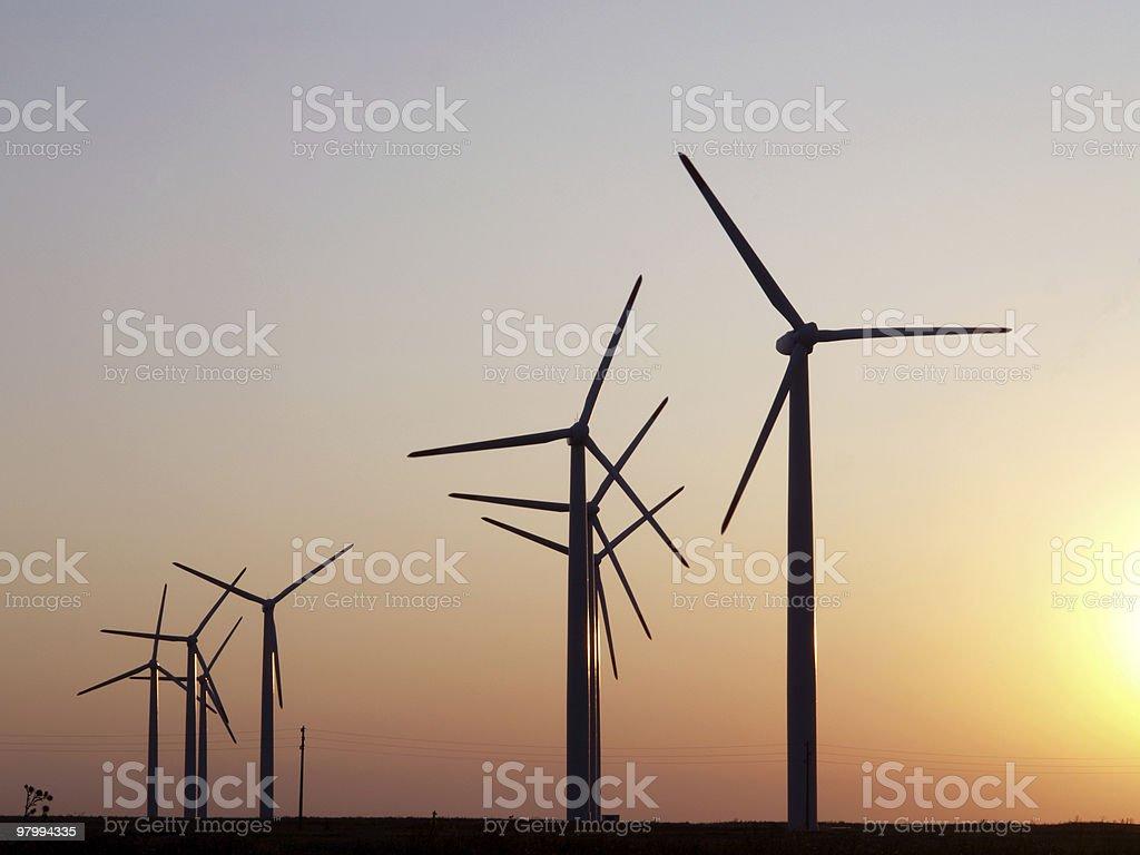 Wind power plant near by Kavarna, Bulgaria royalty-free stock photo