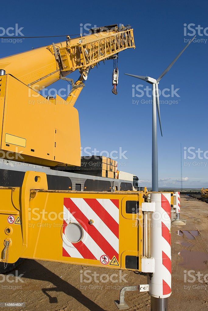 Wind power plant royalty-free stock photo