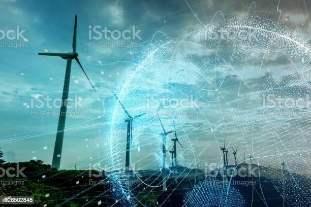 Wind power station and global communication concept picture id926502848?b=1&k=6&m=926502848&s=612x612&h=qm7itkc6mqmkrug ton6bklmuc8fjoxf6gjzatcnhg4=