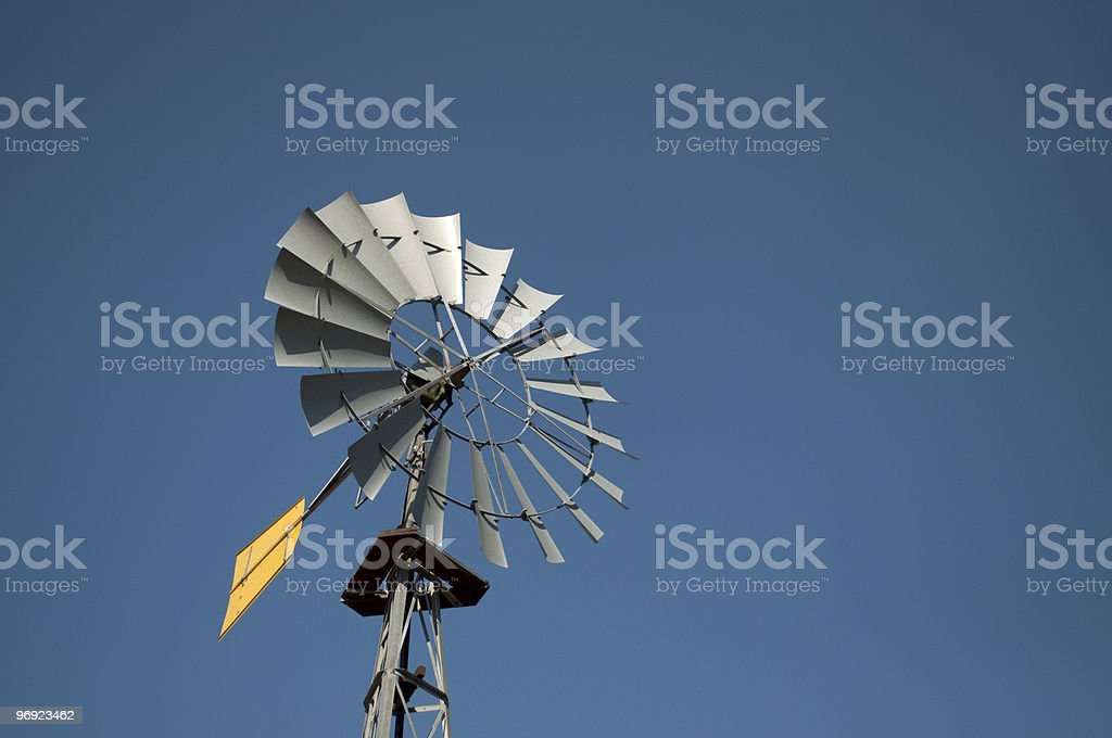 Wind powered water pump royalty-free stock photo
