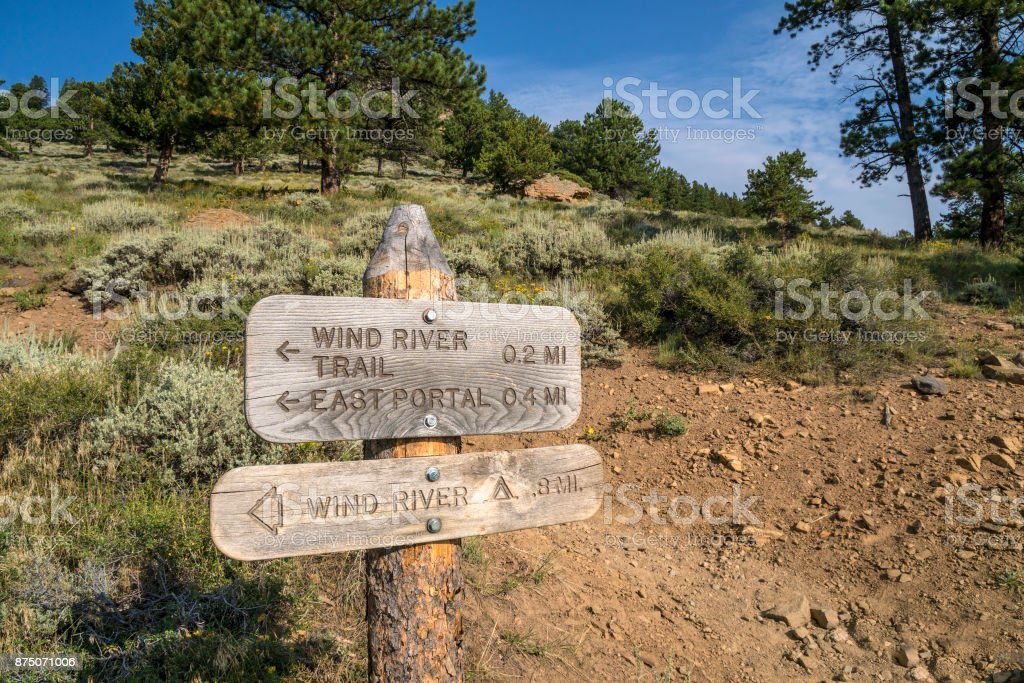Wind River Trail stock photo