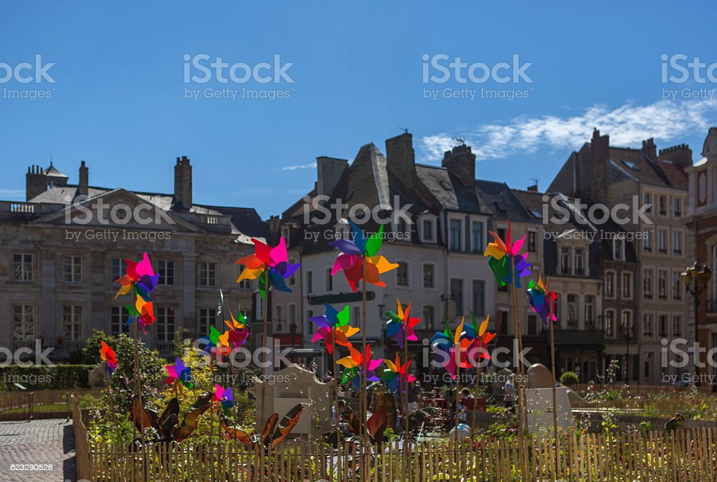 wind roses as decoration at boulogne-sur-mer france - Photo