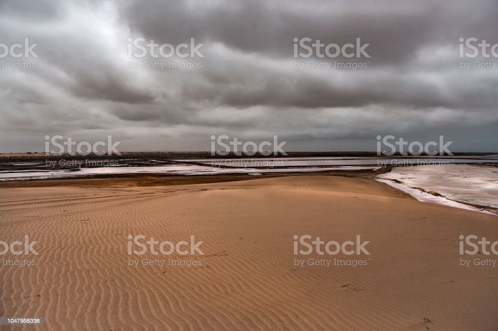 Wind Sand Ripples stock photo