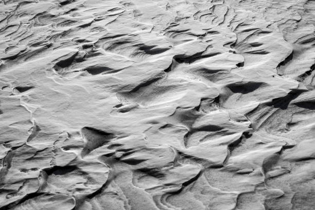 Wind sculpted snow stock photo
