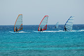 four wind surf are racing