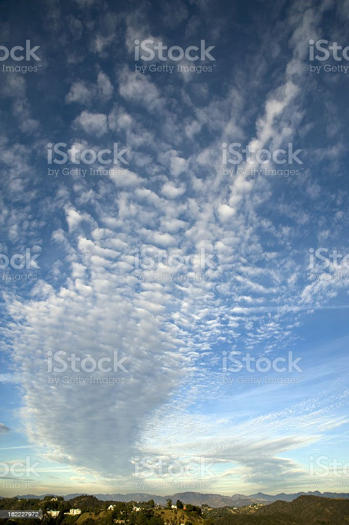 Wind swept clouds background, vertical royalty-free stock photo