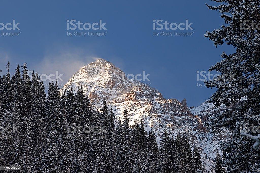 Wind Swept Peak stock photo