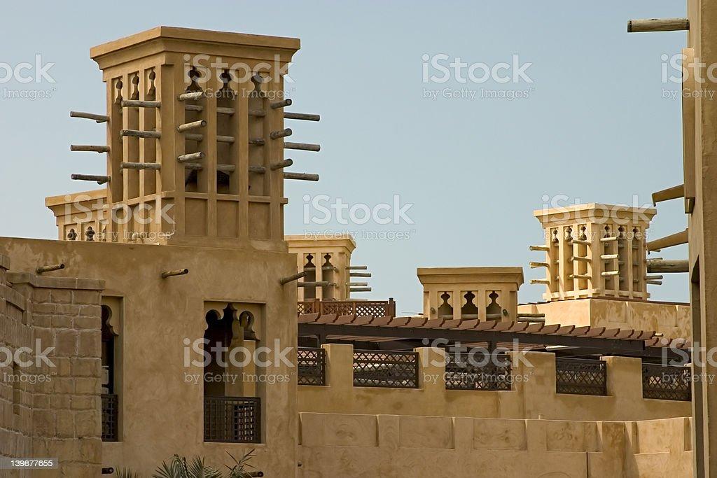 Wind towers, Dubai. royalty-free stock photo