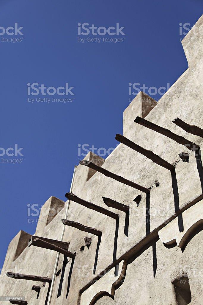 Wind towers in Dubai stock photo