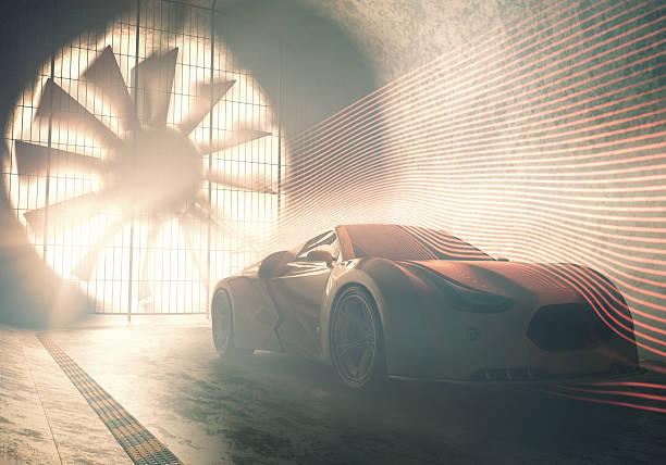 wind tunnel concept car - produktdesigner stock-fotos und bilder