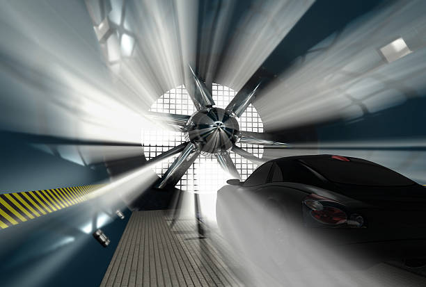 Wind tunnel for car test  aerodynamic stock pictures, royalty-free photos & images