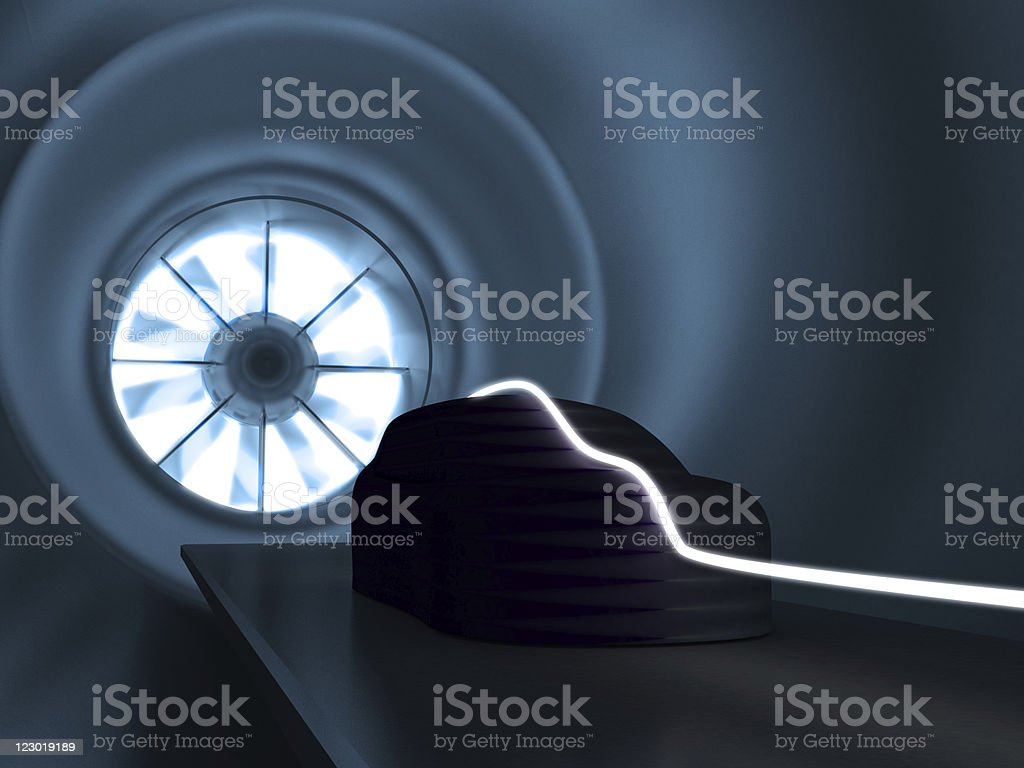 Wind tunnel - Royalty-free Automobile Industry Stock Photo