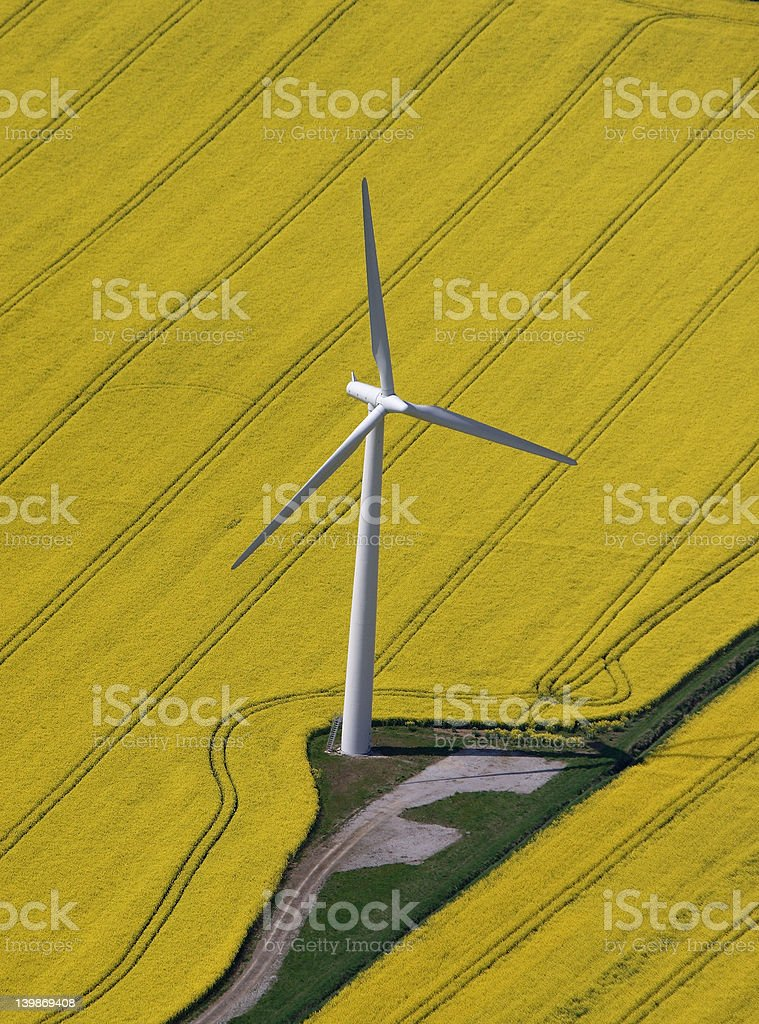 Wind Turbine aerial royalty-free stock photo