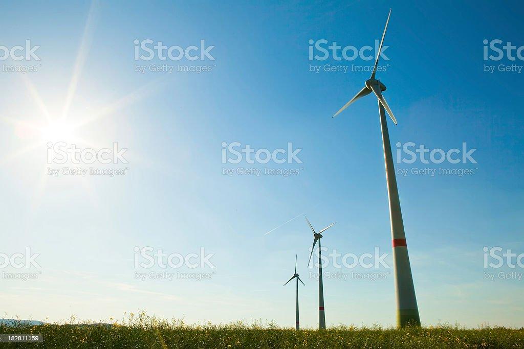Wind Turbine - alternative energy source royalty-free stock photo