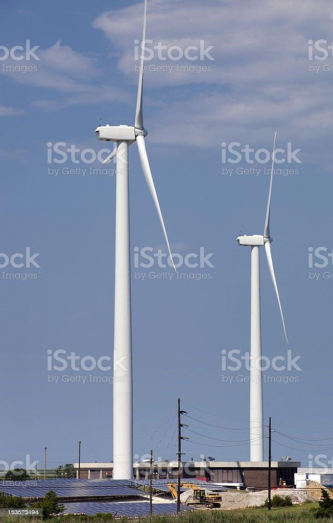 Wind Turbine and Solar Panels royalty-free stock photo