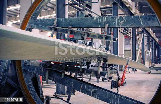 Wind turbine blades production line