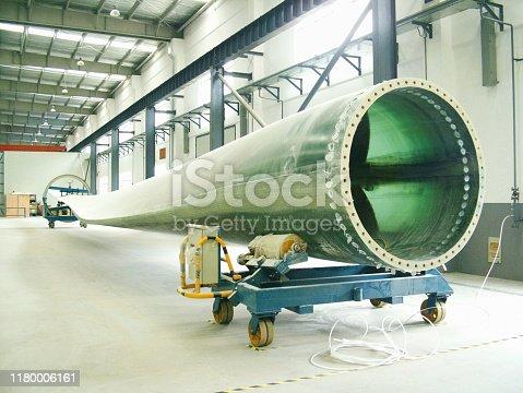 Wind turbine blades production line