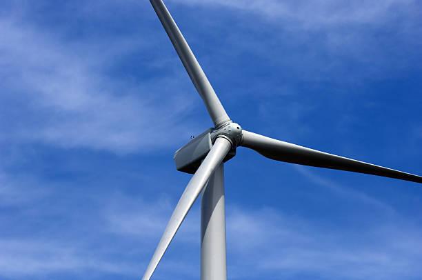 Wind Turbine Close Up stock photo