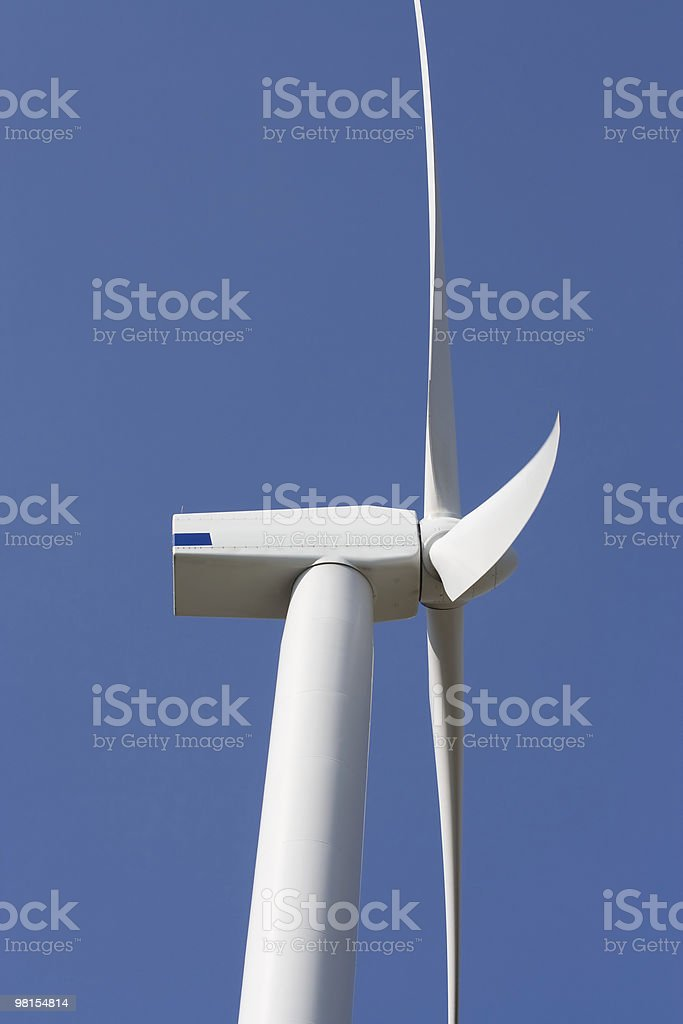 Wind turbine closeup royalty-free stock photo