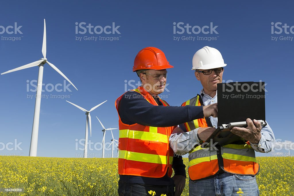 Wind Turbine Computer royalty-free stock photo