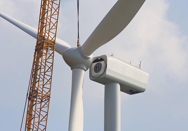 Wind Turbine Construction stock photo