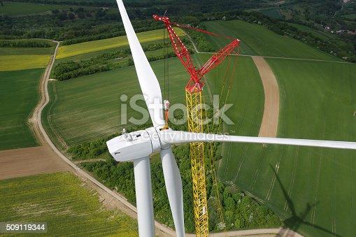 istock Wind Turbine Construction. 509119344