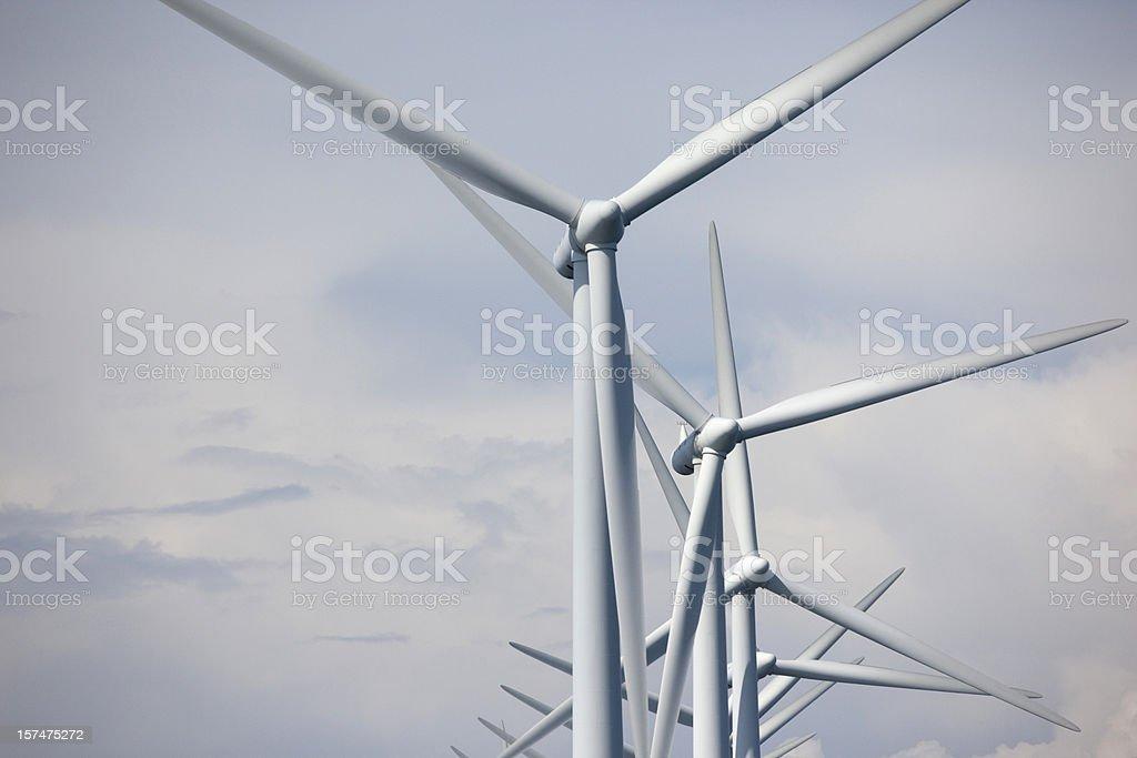 Wind turbine detail stock photo