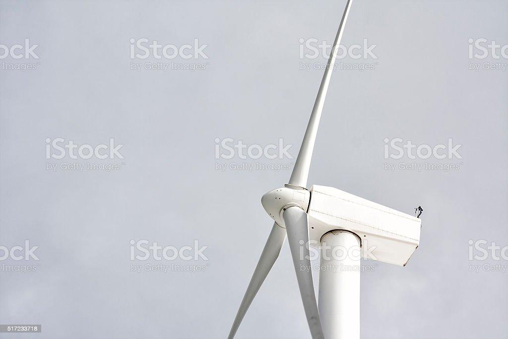 Aerogenerador respetuoso del medio ambiente 01 - foto de stock
