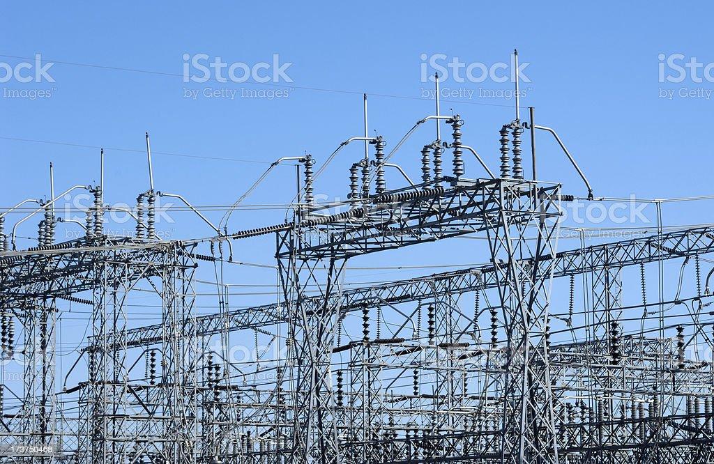 Wind Turbine Electrical Substation. royalty-free stock photo