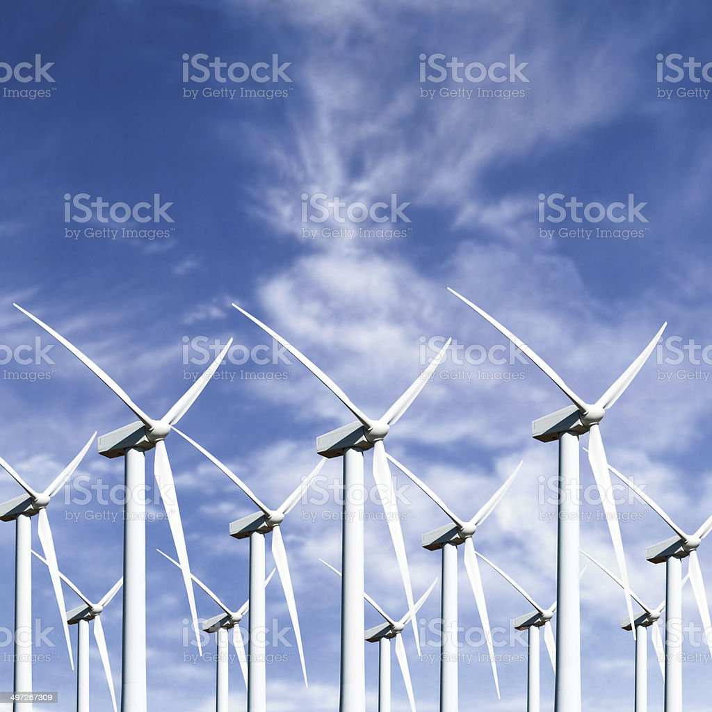 Wind Turbine Farm royalty-free stock photo