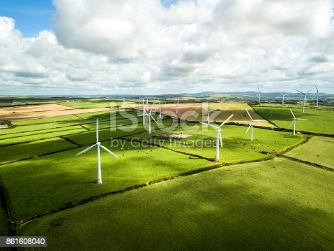 istock Wind turbine fields in Cornwall 861608040